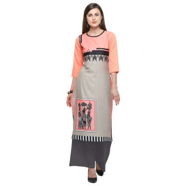 Envy9 Crepe Digital Printed Kurti