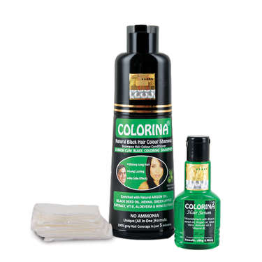 Colorina Black hair Color Shampoo