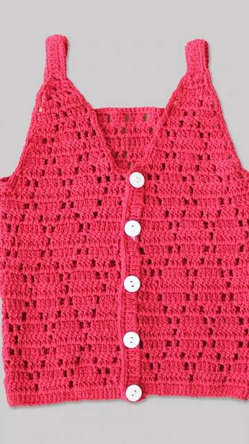 Woonie Diamond Pattern Knitted Top