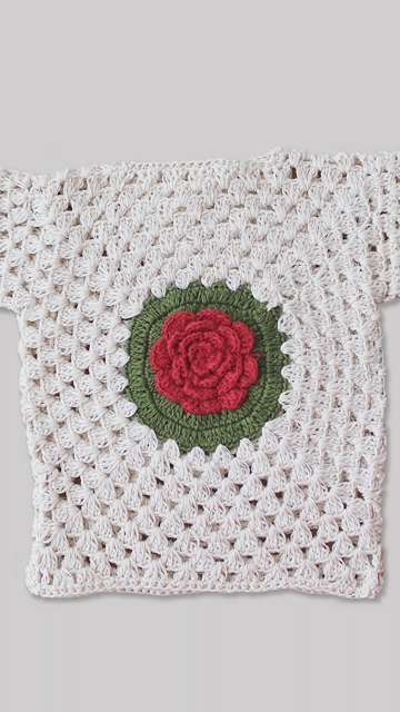 Woonie Rose Knitted Top
