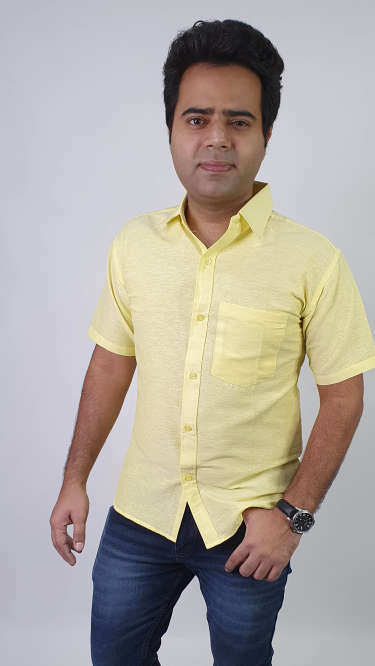 Regular Fit Khadi Shirt by Khadio