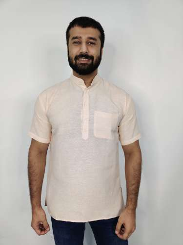 Khadi Short Kurta by Khadio