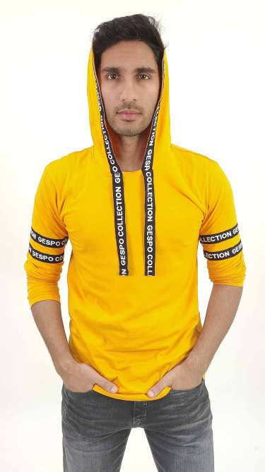 Hooded Cotton T-Shirt by Gespo
