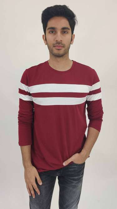 Cotton Striped T-Shirt by Gespo