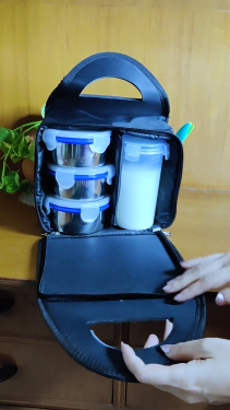 3 Containers With Leak Proof Glass Lunch Box