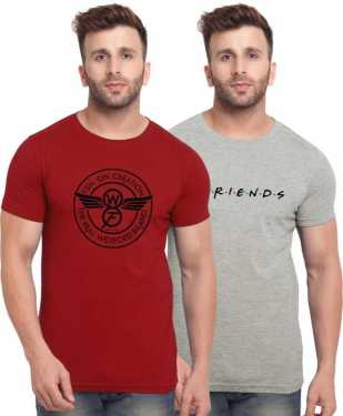 Pack of 2 Round Neck T-shirts by Bullmer