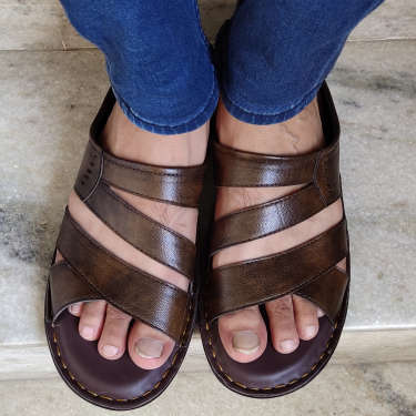 Woakers Stylish Trendy Casual Brown Sandals