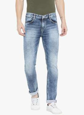 Blue Stretchable Slim Fit Jeans by BluStrip